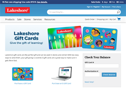 Lakeshore Learning gift card purchase