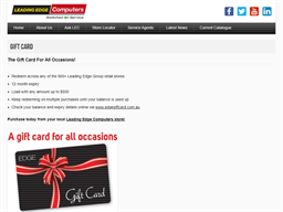Leading Edge Computers gift card purchase