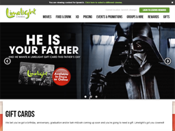 Limelight Cinemas Ipswich gift card purchase