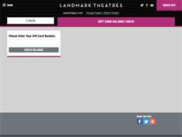 Landmark Theatres gift card balance check