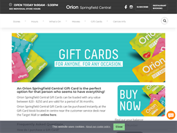 Orion Springfield Central gift card purchase