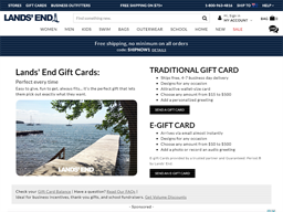 Lands' End gift card purchase