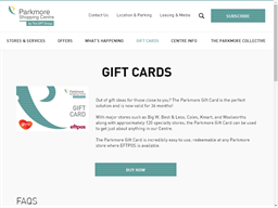 Parkmore Shopping Centre gift card purchase