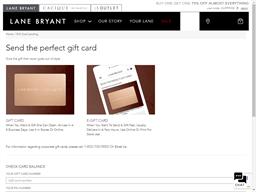 Lane Bryant gift card balance check
