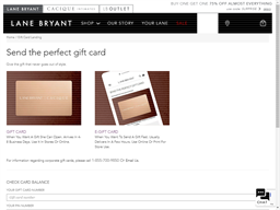 Lane Bryant gift card purchase