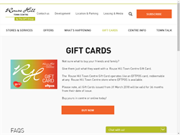 Rouse Hill Town Centre gift card purchase