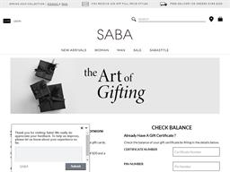 SABA gift card balance check