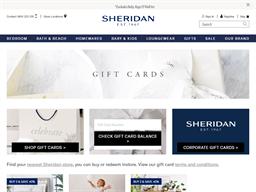 Sheridan gift card purchase