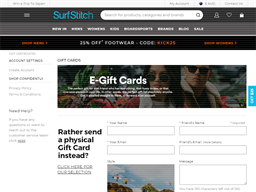 SurfStitch gift card purchase