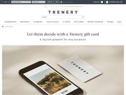 Trenery gift card purchase