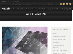 Wests Newcastle gift card purchase