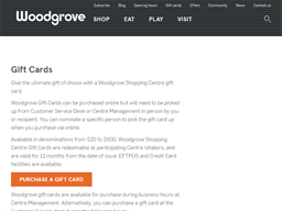 Woodgrove Shopping Centre gift card purchase