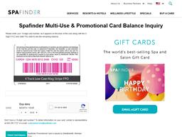 Spa Finder gift card balance check