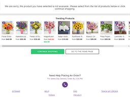 1800 Flowers gift card purchase
