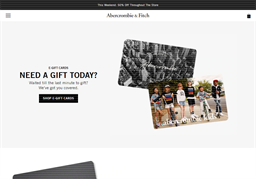 Abercrombie Kids gift card purchase