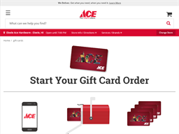 Ace Hardware gift card purchase
