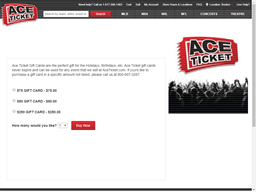 Ace Ticket gift card purchase