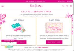 Lilly Pulitzer gift card balance check