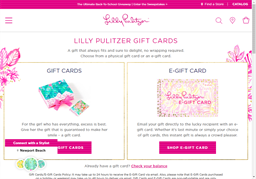 Lilly Pulitzer gift card purchase