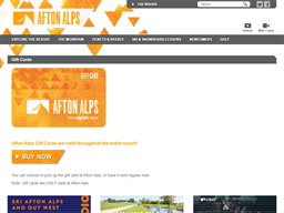 Afton Alps gift card purchase