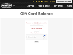 Alamo Drafthouse Cinema gift card balance check