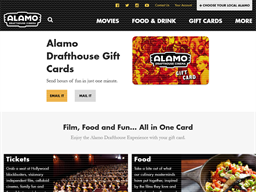 Alamo Drafthouse Cinema gift card purchase