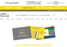 Lord & Taylor gift card purchase