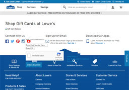Lowe's gift card balance check