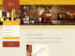 Allyu Spa gift card purchase