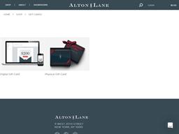 Alton Lane gift card purchase