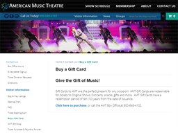 American Music Theater gift card purchase