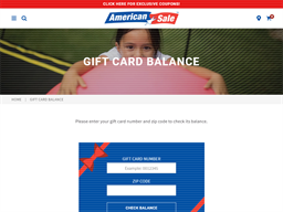 American Sale gift card purchase