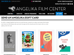Angelika Film Center gift card purchase