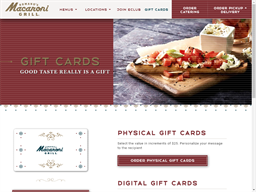 Macaroni Grill gift card purchase