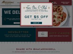 Macaroni Grill shopping