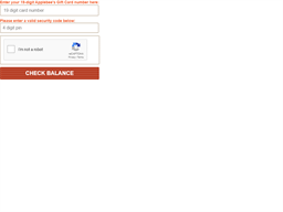 Applebee's gift card balance check
