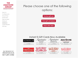 The Aquitaine Group gift card purchase