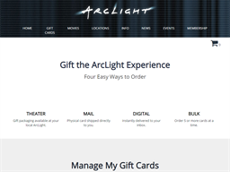 ArcLight Cinemas gift card purchase