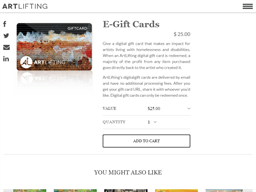 ArtLifting gift card purchase