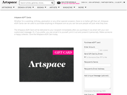 Artspace gift card purchase