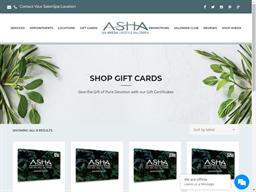 Asha Salon Spa gift card purchase