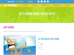At The Beach gift card purchase