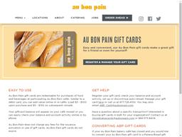 Au Bon Pain gift card purchase