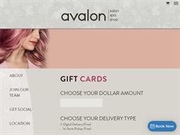Avalon Salon Spa gift card purchase