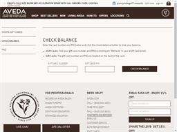 Aveda gift card balance check