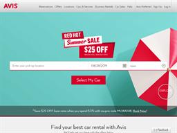 Avis Rental Cars shopping