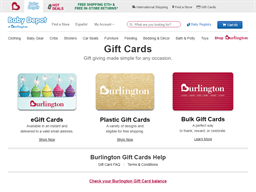 Baby Depot gift card purchase