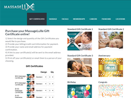 Massage Luxe gift card purchase