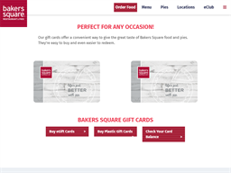 Bakers Square gift card purchase