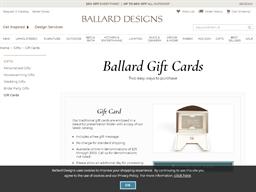 Ballard Designs gift card purchase